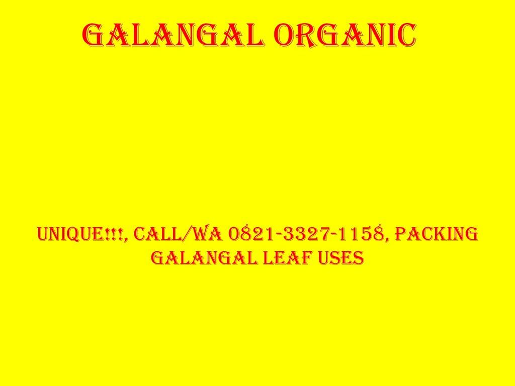 GALANGAL ORGANIC Unique!!!, Call/Wa 0821-3327-1...