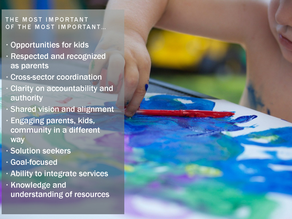 • Opportunities for kids • Respected and recogn...