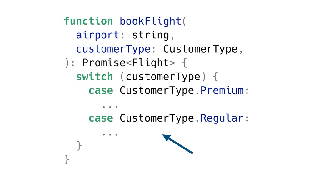 function bookFlight( airport: string, customerT...