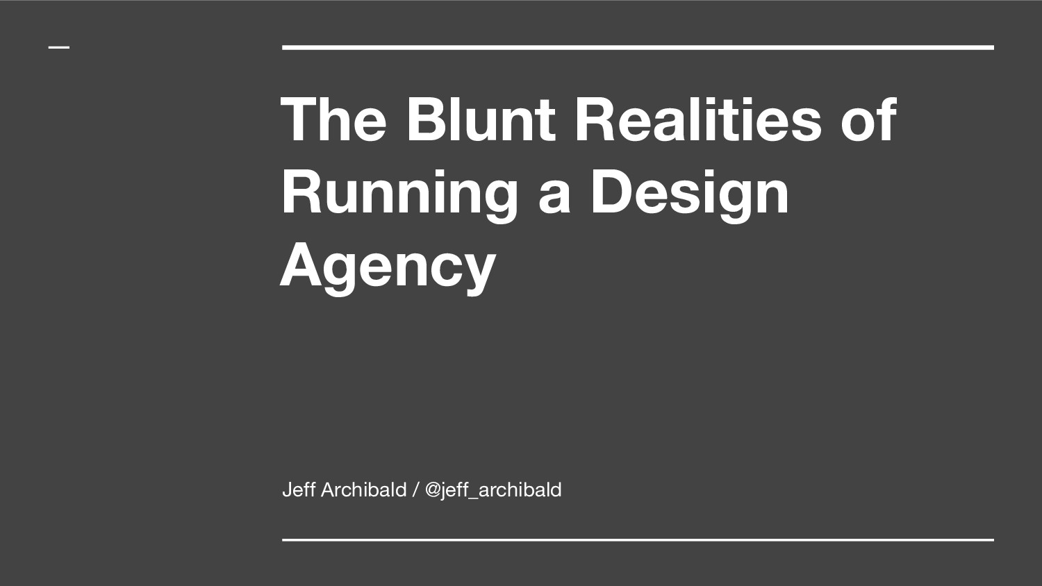 The Blunt Realities of Running a Design Agency ...