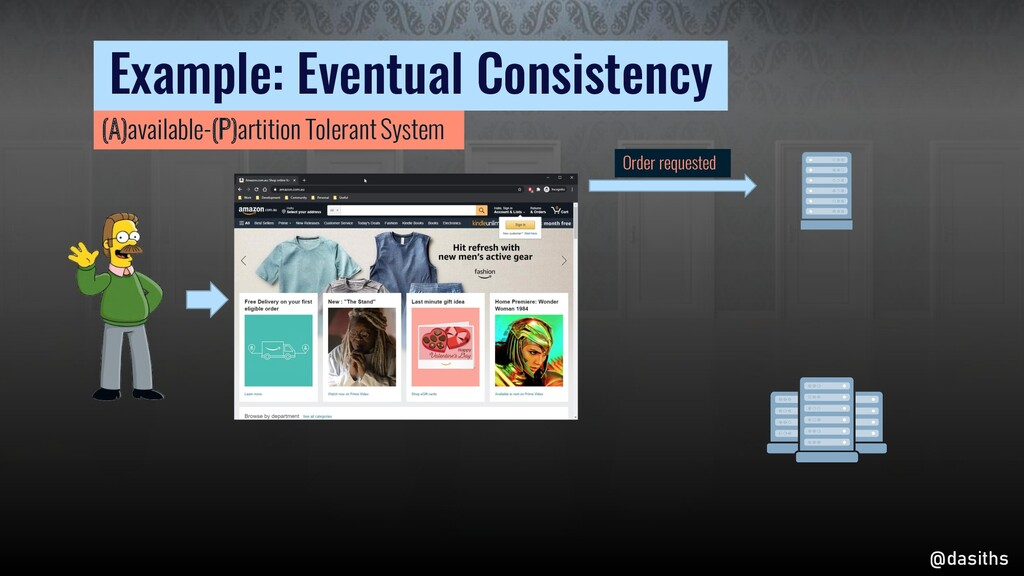 Order requested Example: Eventual Consistency @...