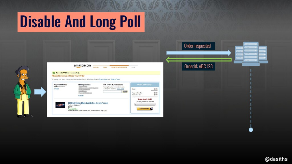 Disable And Long Poll Order requested OrderId: ...