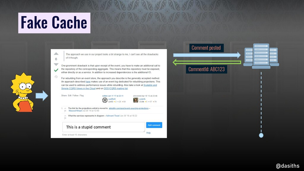 Fake Cache Comment posted CommentId: ABC123 Thi...