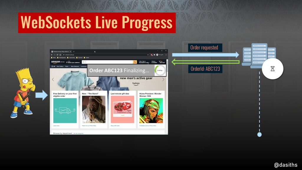 WebSockets Live Progress Order requested OrderI...