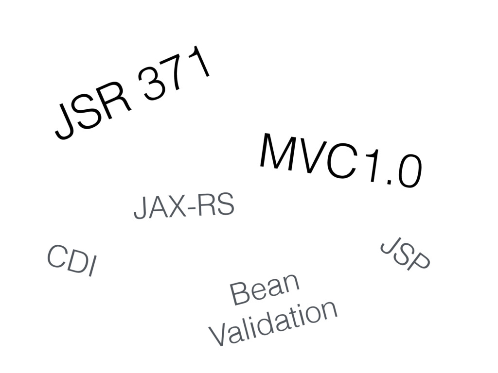 JSR 371 MVC1.0 CDI Bean Validation JSP JAX-RS