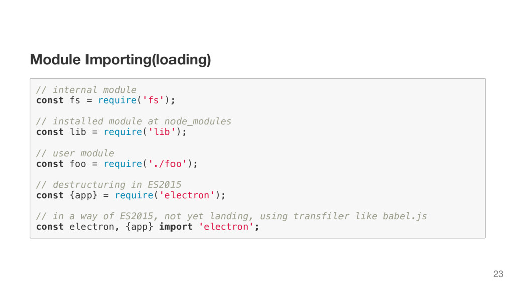 Module Importing(loading) / / i n t e r n a l m...