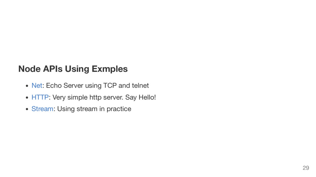 Node APIs Using Exmples Net: Echo Server using ...