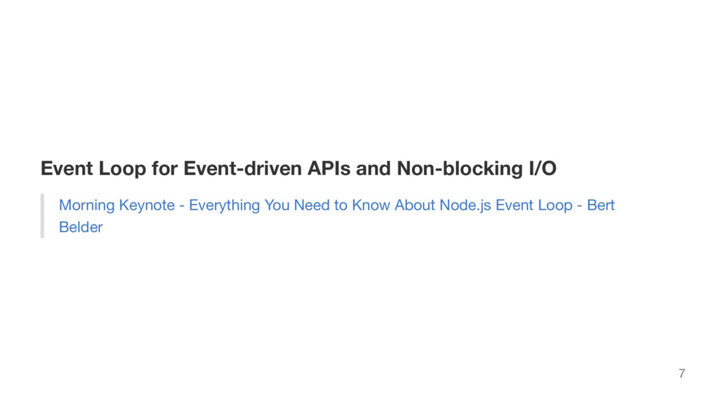 Event Loop for Event-driven APIs and Non-blocki...