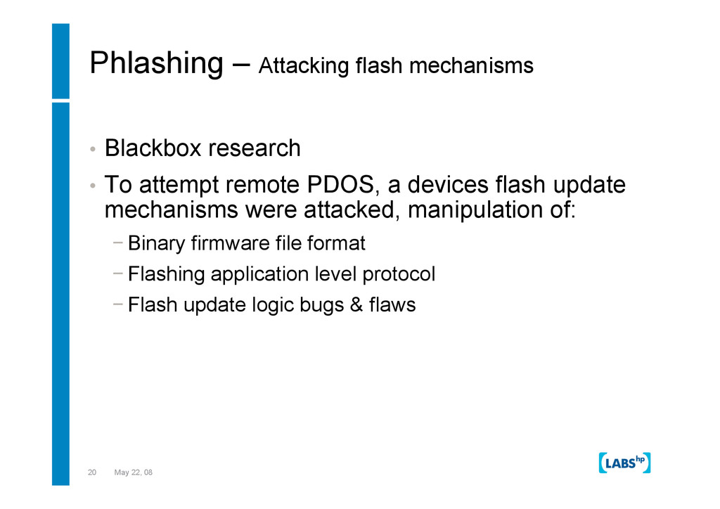 20 May 22, 08 Phlashing – Attacking flash mecha...
