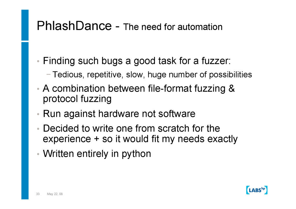 33 May 22, 08 PhlashDance - The need for automa...