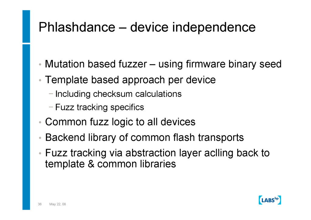 36 May 22, 08 Phlashdance – device independence...