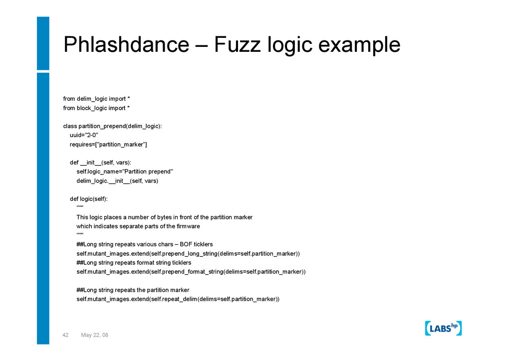 42 May 22, 08 Phlashdance – Fuzz logic example ...