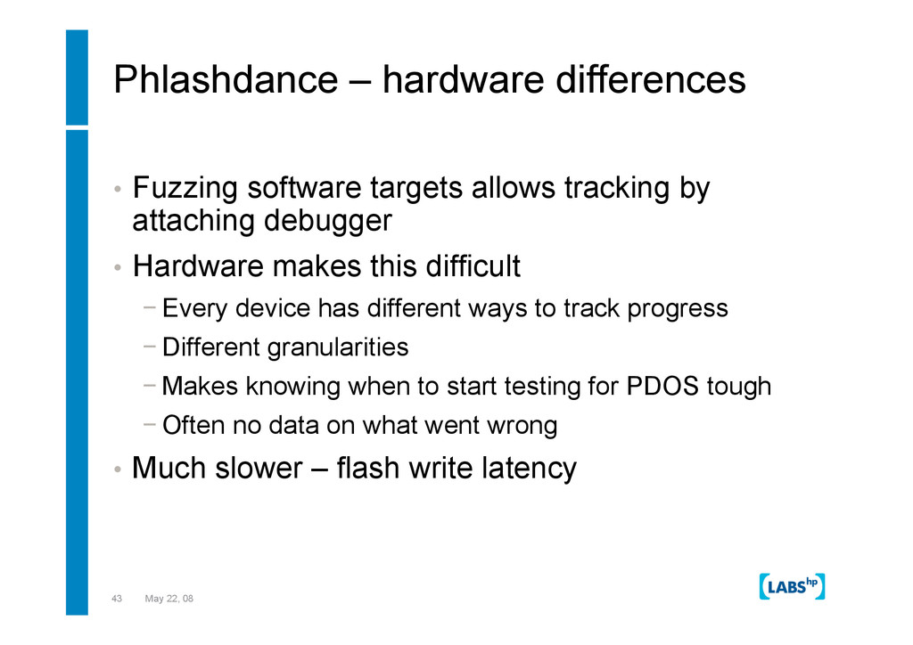 43 May 22, 08 Phlashdance – hardware difference...