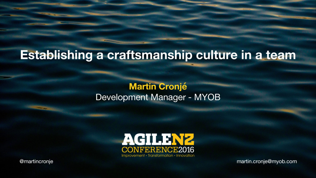 @martincronje Establishing a craftsmanship cult...