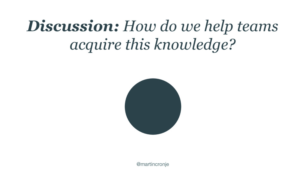 @martincronje Discussion: How do we help teams ...