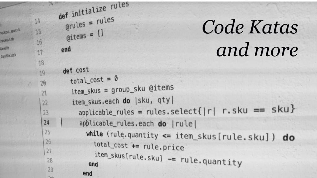 @martincronje Code Katas and more