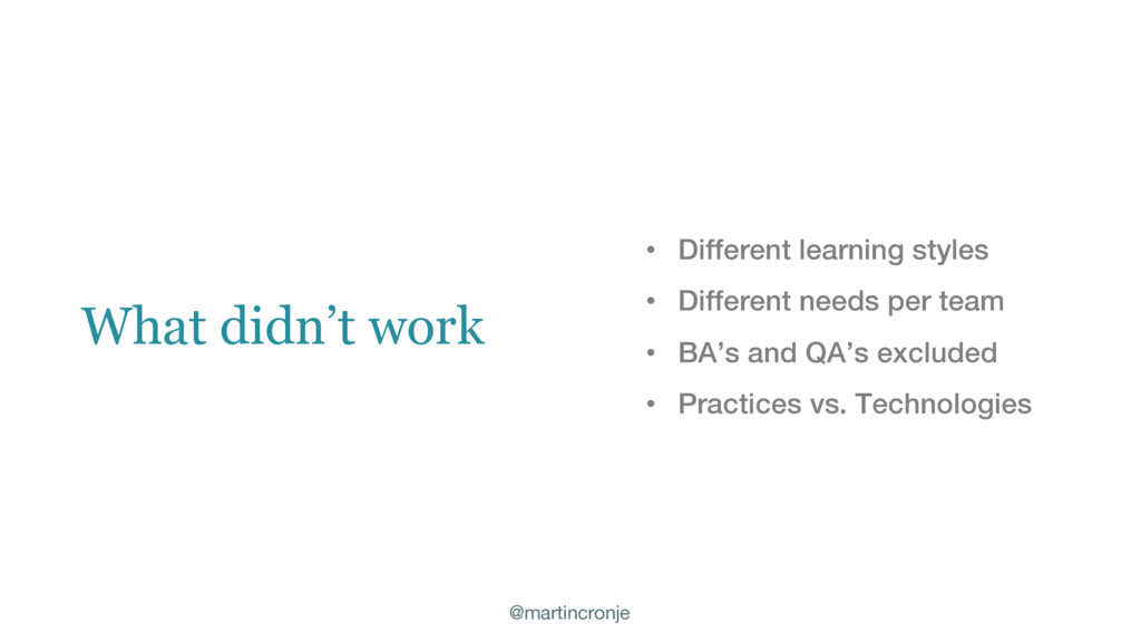 @martincronje • Different learning styles • Dif...