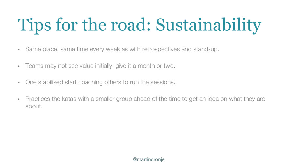 @martincronje Tips for the road: Sustainability...