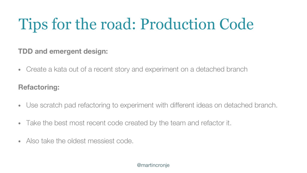 @martincronje Tips for the road: Production Cod...