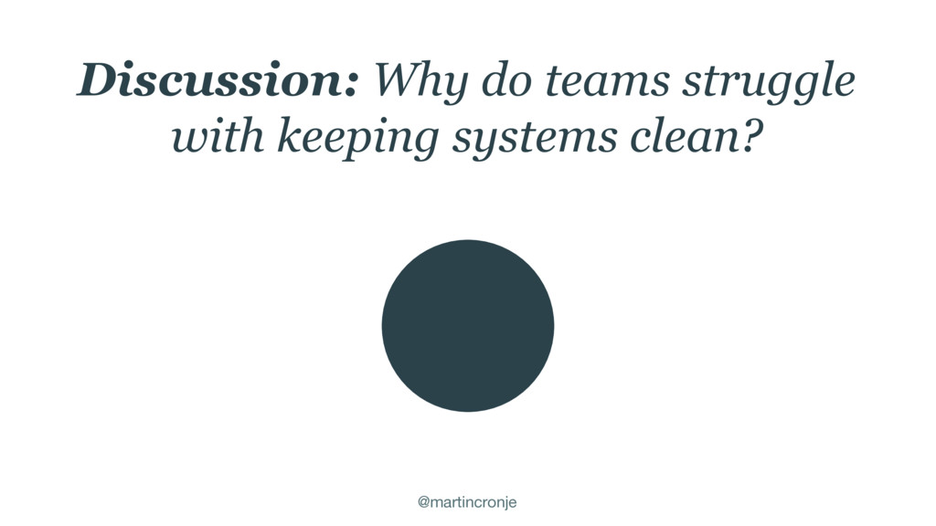 @martincronje Discussion: Why do teams struggle...