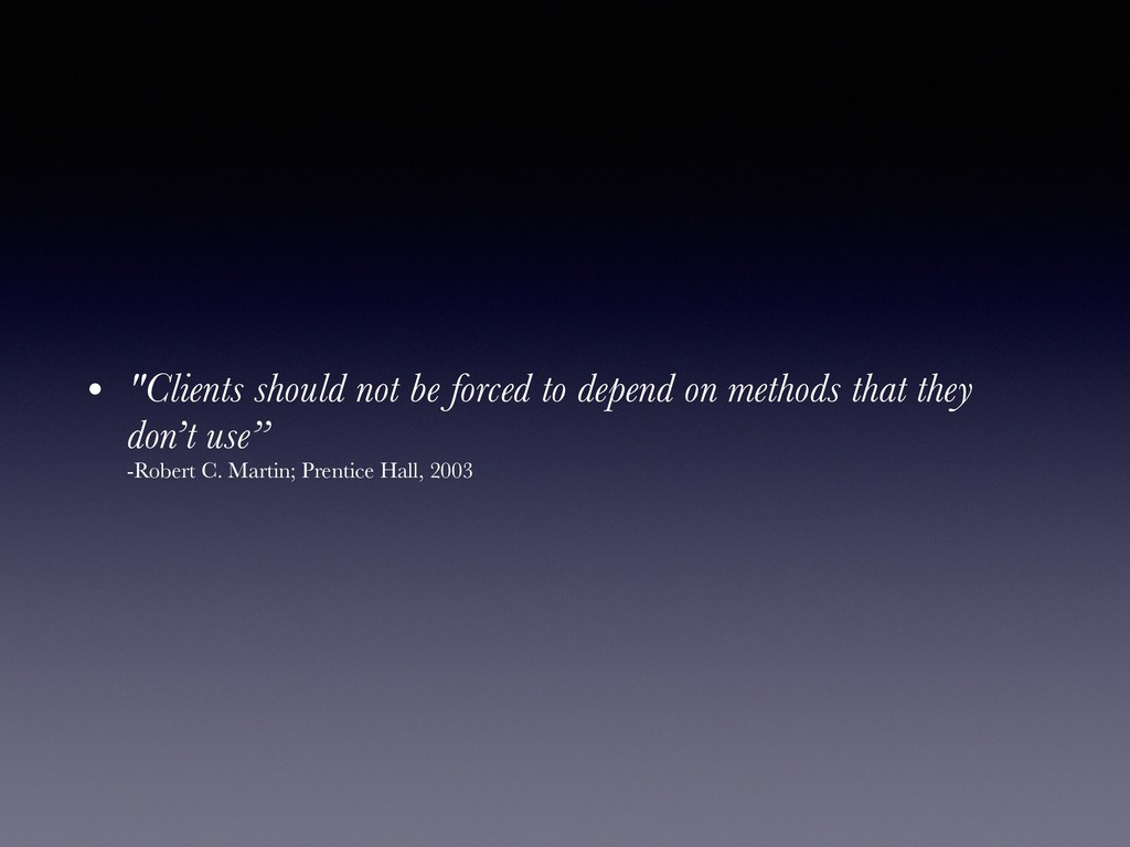 "• ""Clients should not be forced to depend on me..."