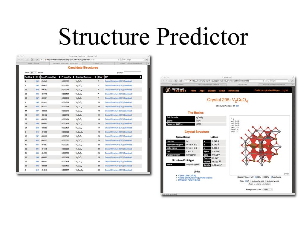 Structure Predictor