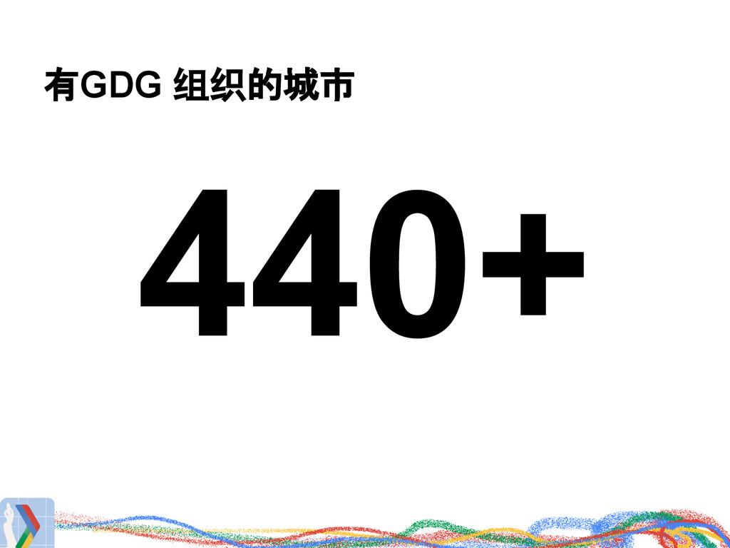 有GDG 组织的城市 440+
