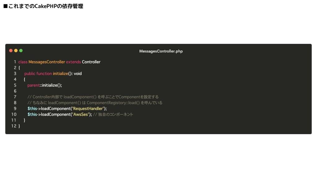 ■これまでのCakePHPの依存管理