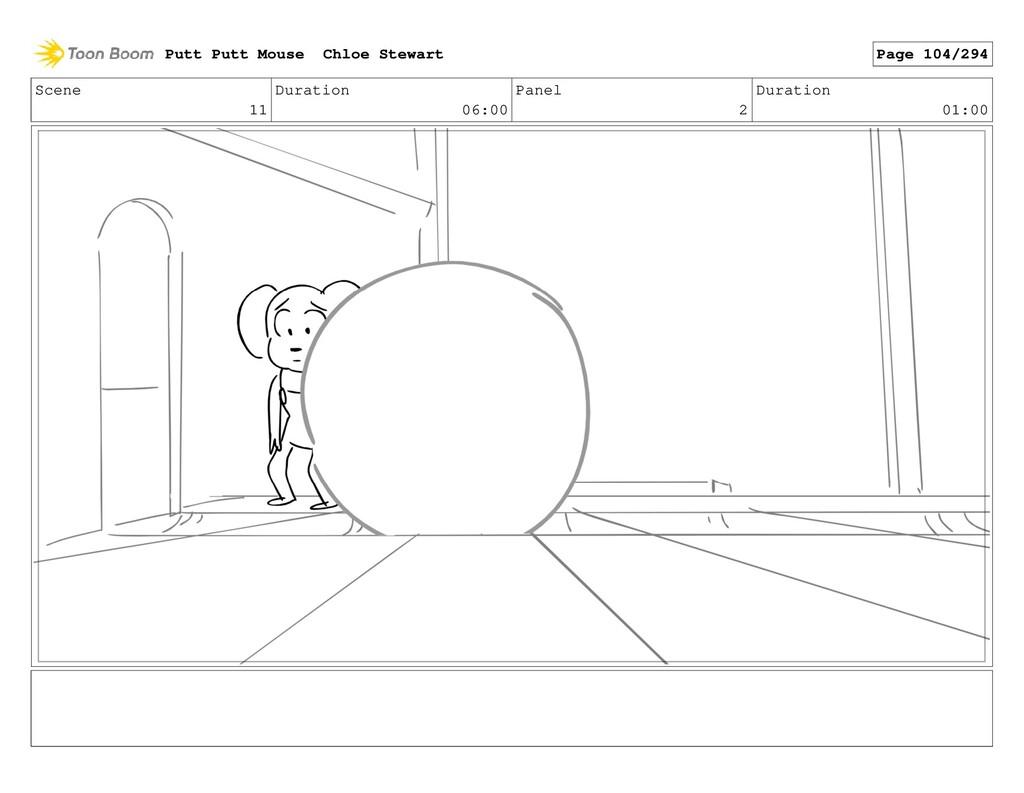 Scene 11 Duration 06:00 Panel 2 Duration 01:00 ...