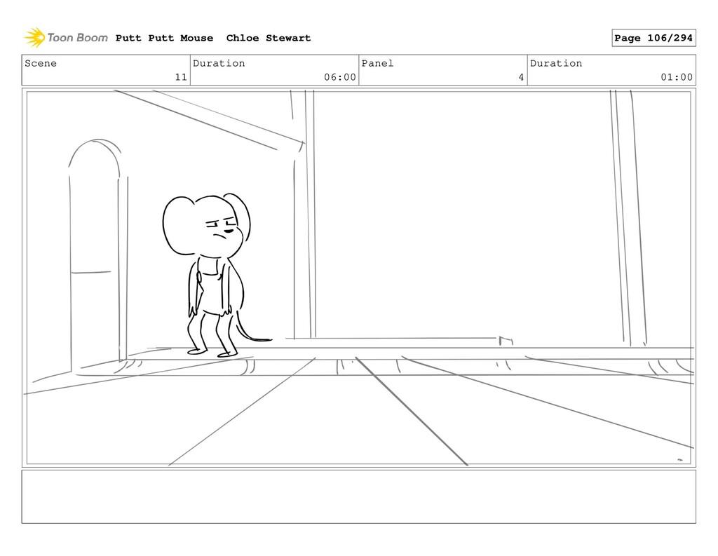 Scene 11 Duration 06:00 Panel 4 Duration 01:00 ...