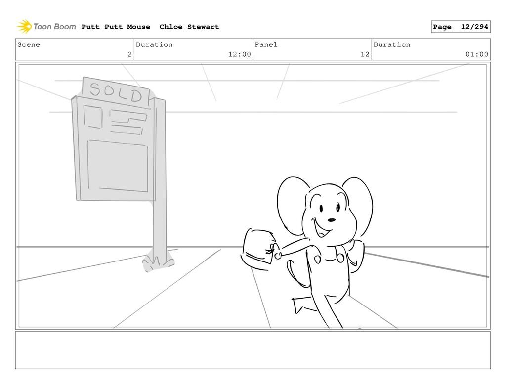 Scene 2 Duration 12:00 Panel 12 Duration 01:00 ...