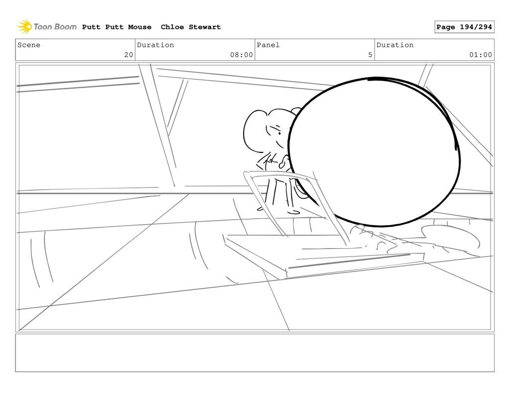 Scene 20 Duration 08:00 Panel 5 Duration 01:00 ...