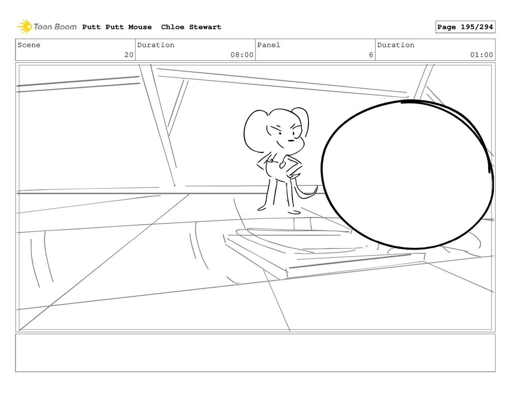 Scene 20 Duration 08:00 Panel 6 Duration 01:00 ...