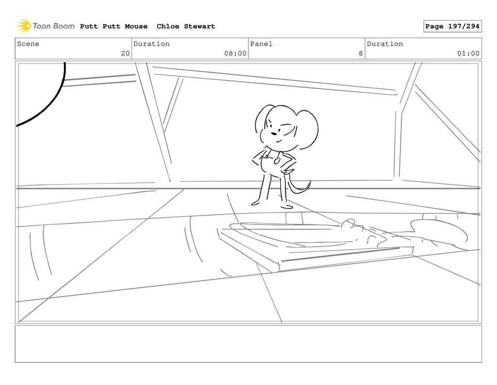 Scene 20 Duration 08:00 Panel 8 Duration 01:00 ...