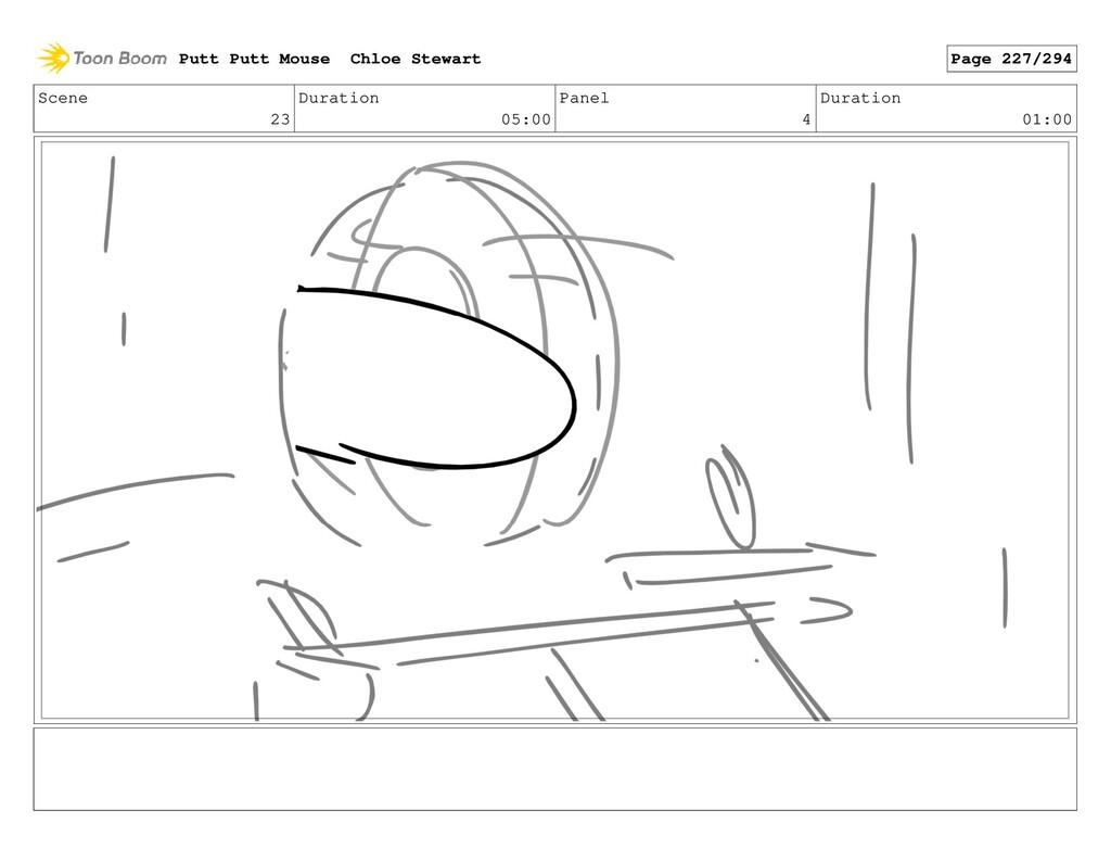 Scene 23 Duration 05:00 Panel 4 Duration 01:00 ...