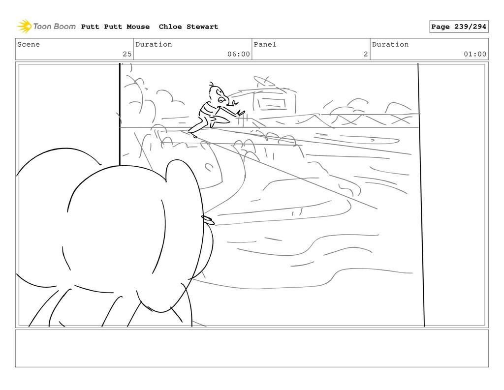 Scene 25 Duration 06:00 Panel 2 Duration 01:00 ...
