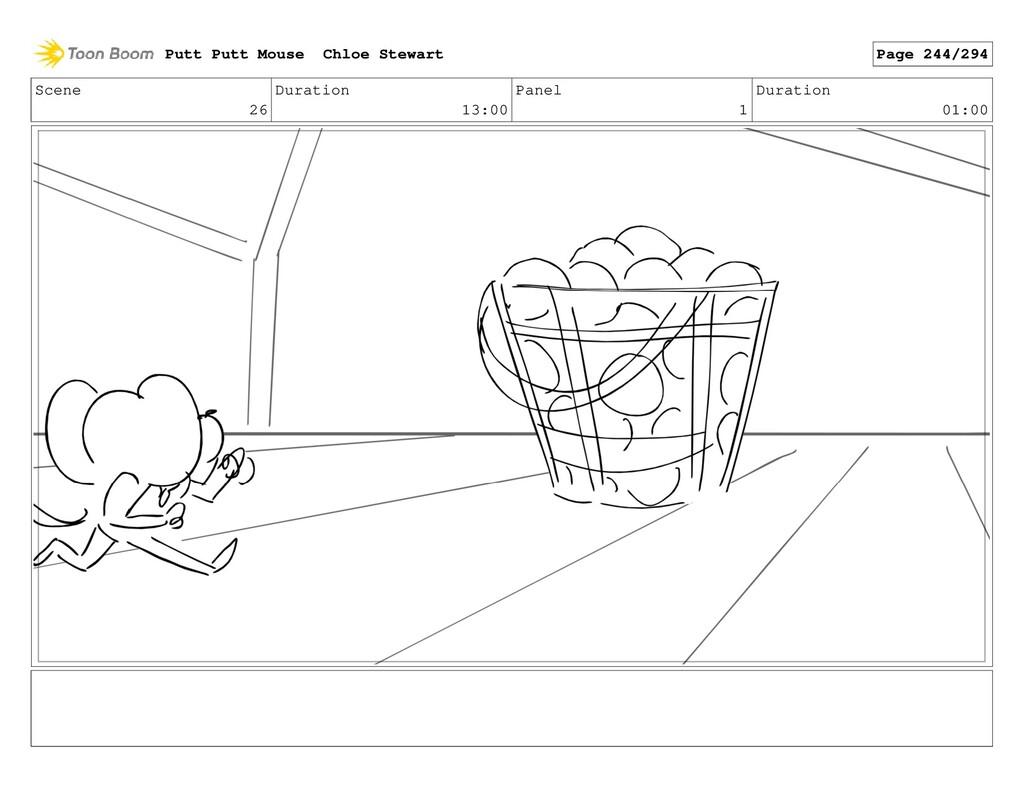 Scene 26 Duration 13:00 Panel 1 Duration 01:00 ...