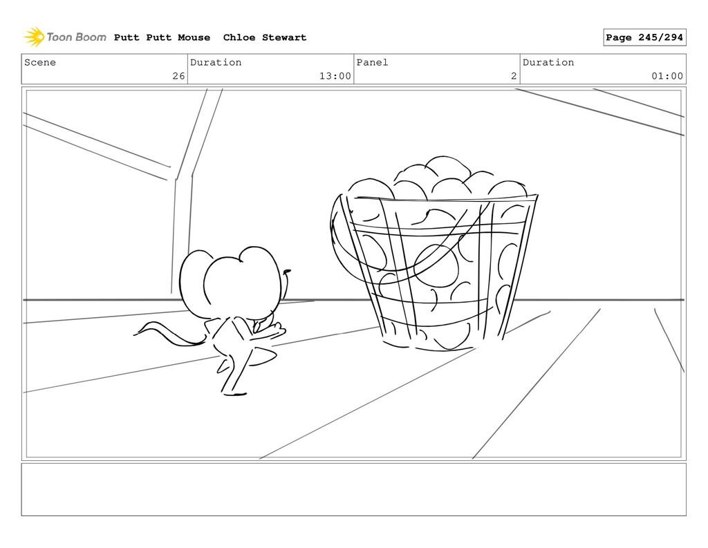Scene 26 Duration 13:00 Panel 2 Duration 01:00 ...