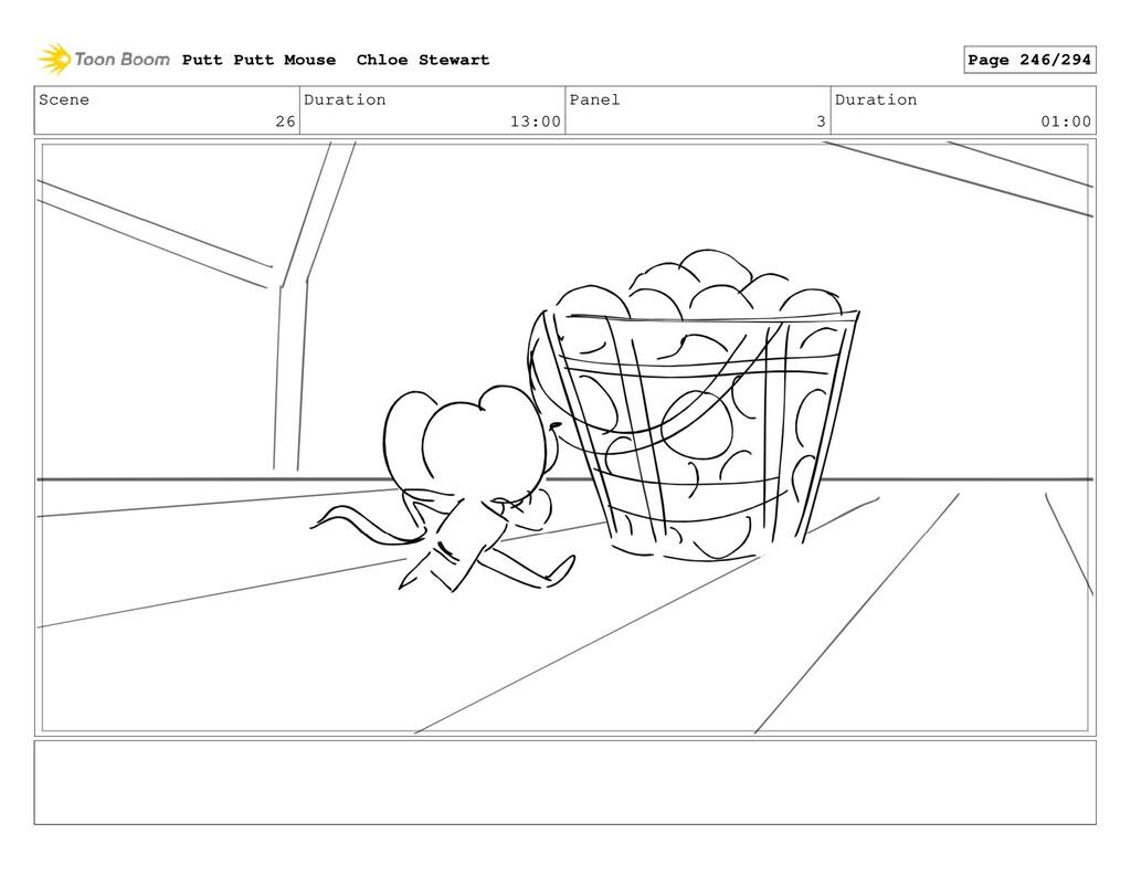Scene 26 Duration 13:00 Panel 3 Duration 01:00 ...