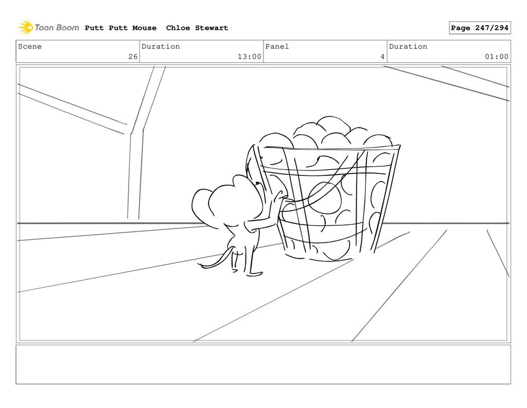 Scene 26 Duration 13:00 Panel 4 Duration 01:00 ...