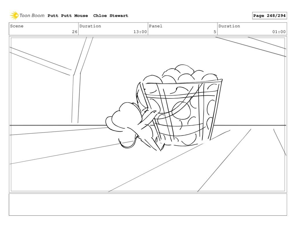 Scene 26 Duration 13:00 Panel 5 Duration 01:00 ...
