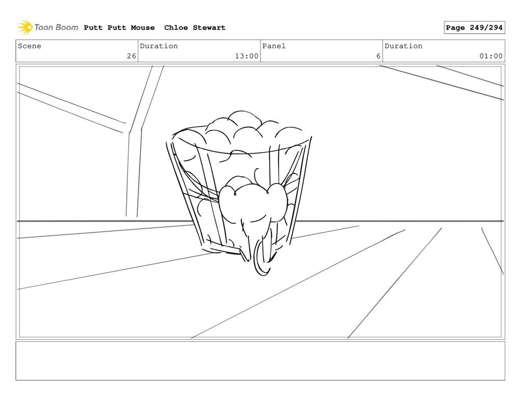 Scene 26 Duration 13:00 Panel 6 Duration 01:00 ...