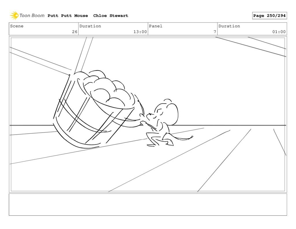 Scene 26 Duration 13:00 Panel 7 Duration 01:00 ...
