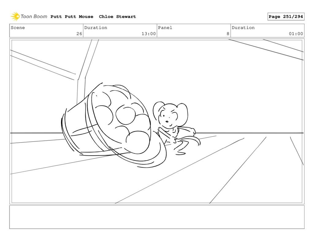 Scene 26 Duration 13:00 Panel 8 Duration 01:00 ...