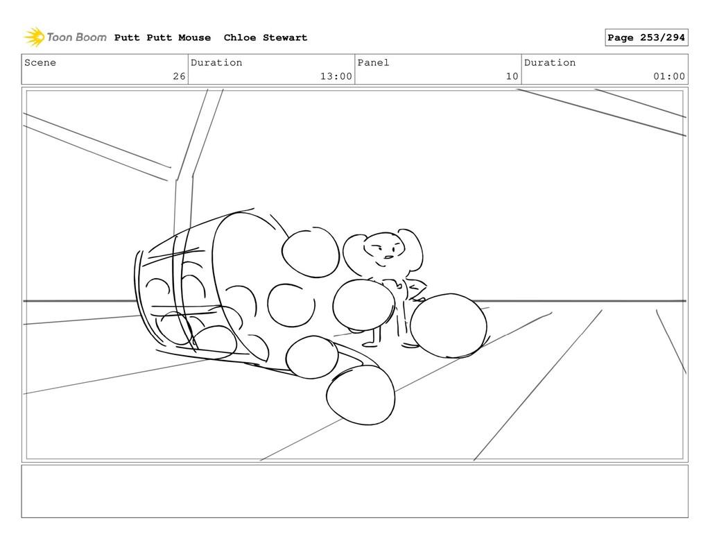 Scene 26 Duration 13:00 Panel 10 Duration 01:00...