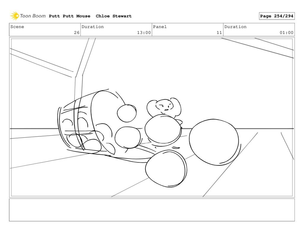 Scene 26 Duration 13:00 Panel 11 Duration 01:00...