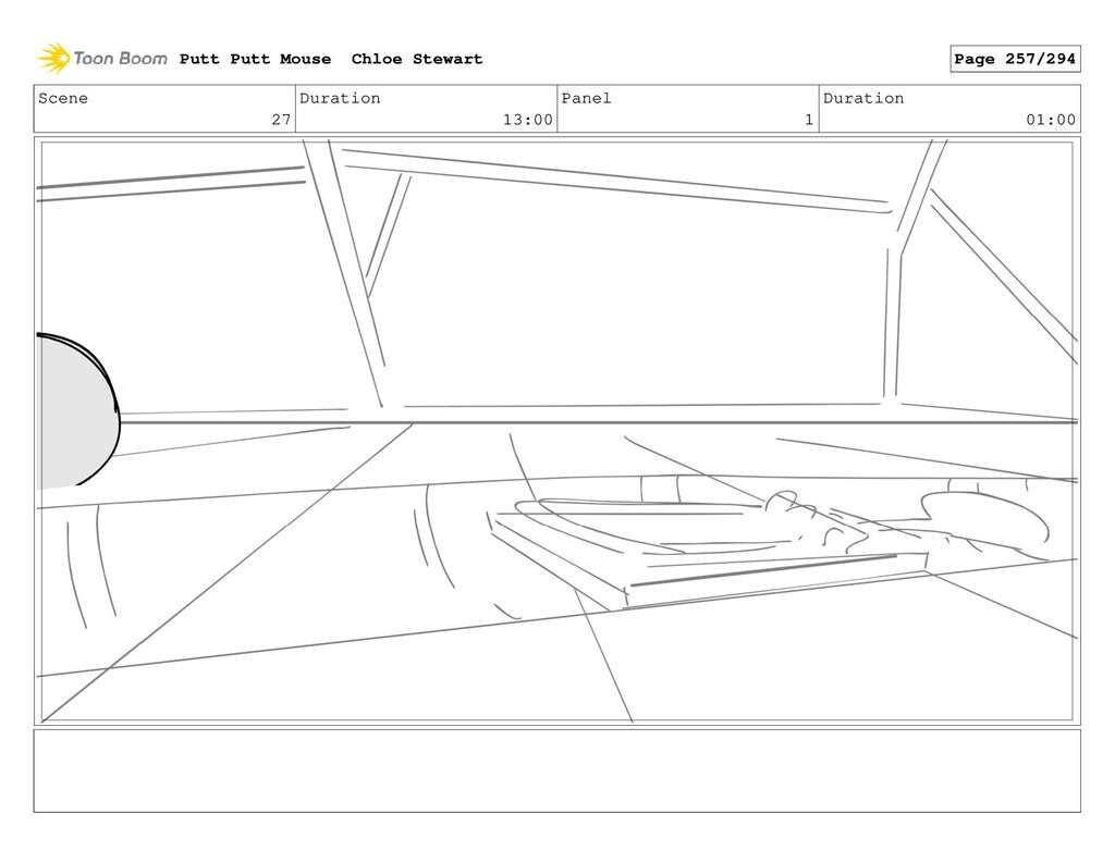 Scene 27 Duration 13:00 Panel 1 Duration 01:00 ...