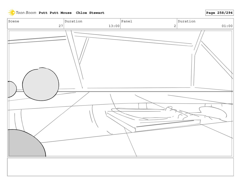 Scene 27 Duration 13:00 Panel 2 Duration 01:00 ...