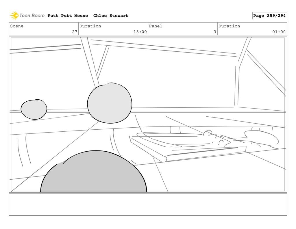 Scene 27 Duration 13:00 Panel 3 Duration 01:00 ...