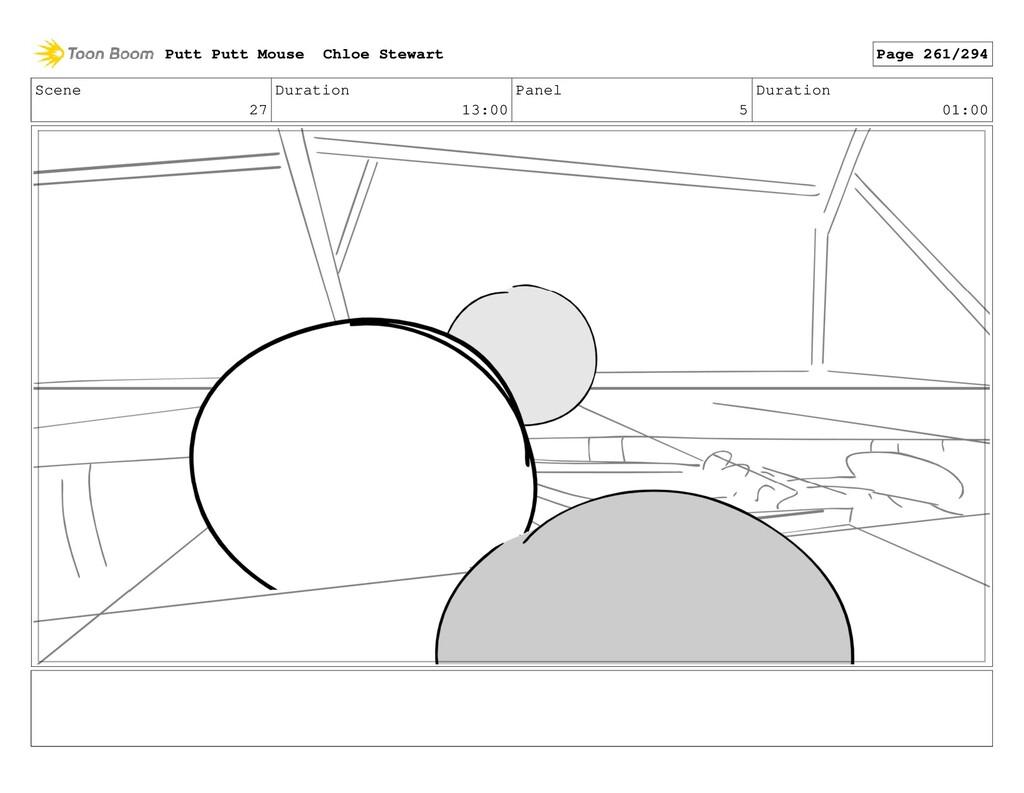 Scene 27 Duration 13:00 Panel 5 Duration 01:00 ...